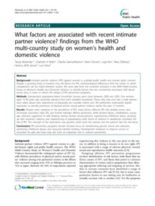 case study domestic violence uk Un women security sector module december 2011 1 case study: training on assisting domestic violence survivors in honduras in 2002, the national institute for women.
