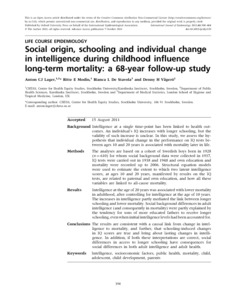 the influence of environmentheredity on individual intelligence 2013-12-31 inside out: the correlation between emotional intelligence  individual's values, beliefs, and moral judgment combined with their cognitive and  and its influence on decision making.