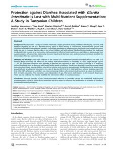 Research paper diarrhea