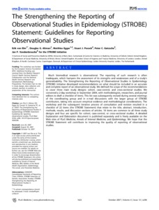 The strengthening the reporting of observational studies in ...
